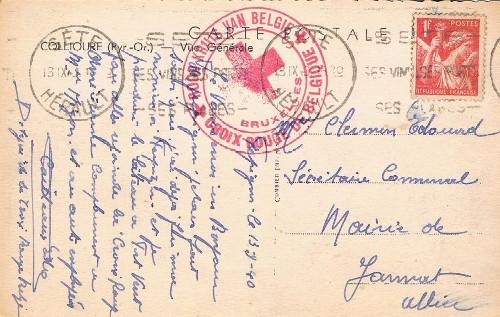 réfugié belge à sète