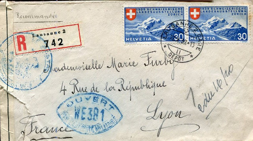 controle postal WE 381