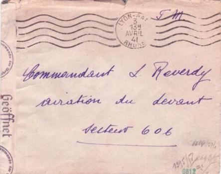 03 04 1941 armée du levant secteur postal 606