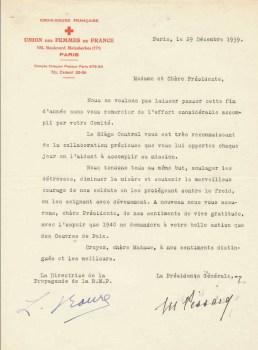 union des femmes de France 29 12 1939