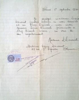 attestation d'hébergement pour libération de prisonnier de guerre