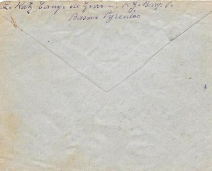 23 01 1941 camp de gurs verso