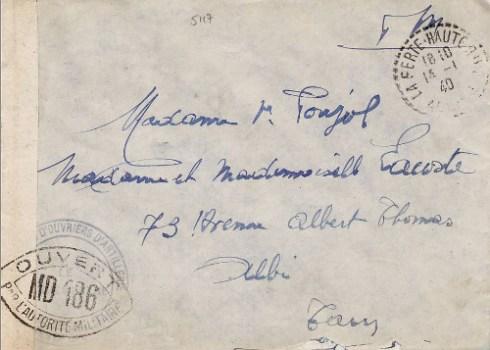 controle postal MD 186