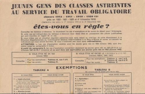 recensement sto classes 39 40 41 42