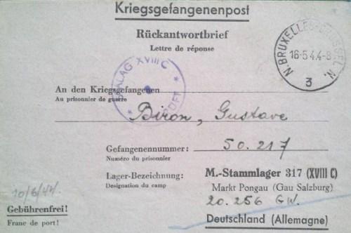 prisonniers de guerre stalag 317 16 05 1944