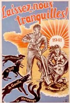 1941 affiche propagande de Vichy
