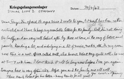 prisonniers de guerre luft stalag III 30 04 1943