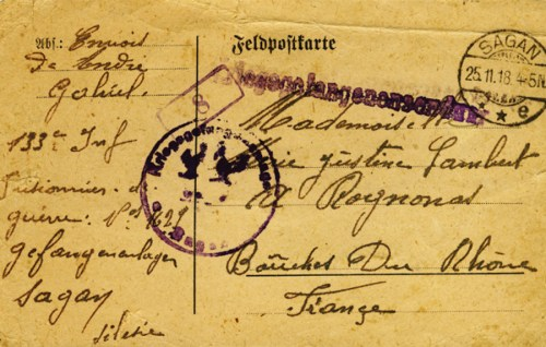 camp de Sagan 1918