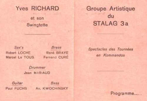 programme troupe artistique du stalag III A en tournée