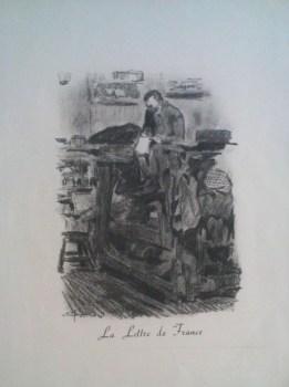 Gravure La Lettre de France Etienne Morin Prisonnier de Guerre OFLAG IV D