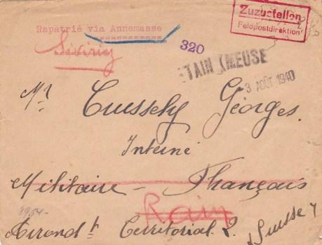rapatrié français de suisse 03 08 1940