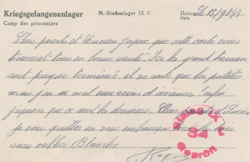 15 09 1943 stalag IX C