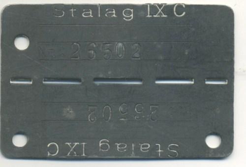 plaque roger jacques prisonnier au stalag IX C merci à Nicole Jacques-Lefèvre