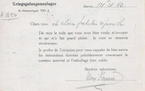 12 03 1943 stalag VIII A