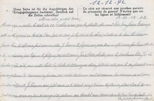 12 12 1942 stalag VIII A verso