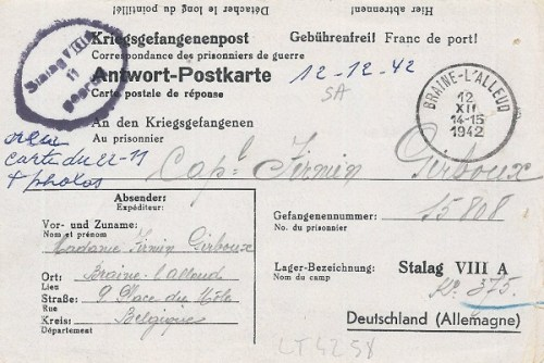 12 12 1942 stalag VIII A