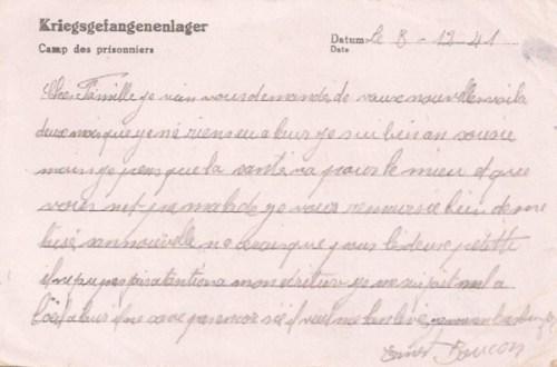 16 12 1941 stalag IV A verso