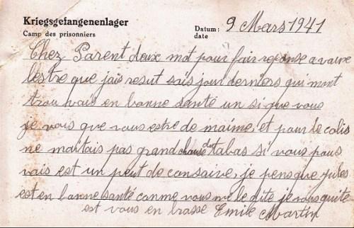 09 03 1941 stalag XVII A