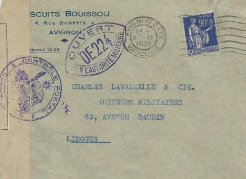 controle postal OD 224