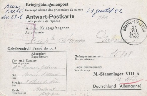 21 08 1942 stalag VIII A