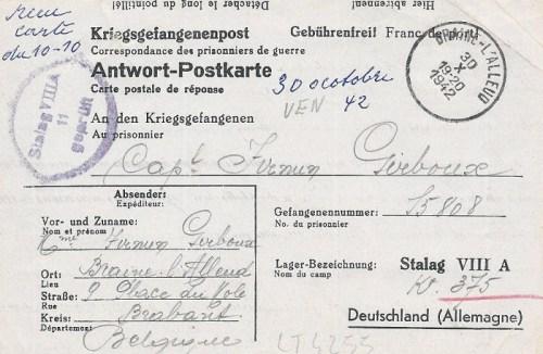 30 10 1942 stalag VIII A
