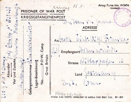prisonniers de guerre allemands en GB camp n° 230