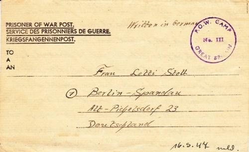 prisonniers de guerre allemands en GB camp n° 111