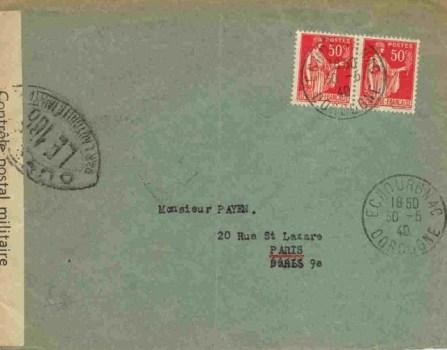 controle postal LE 186