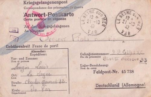 21 10 1942 feldpost 45738