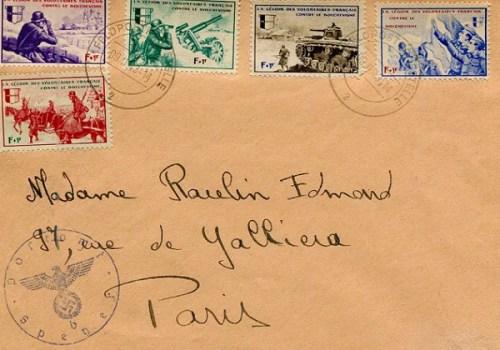 timbres aux thèmes de la légion des volontaires français