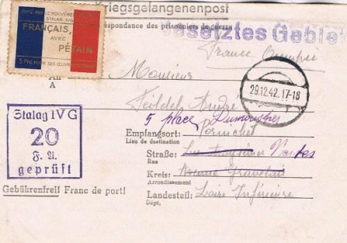 mouvement Pétain du stalag IV G