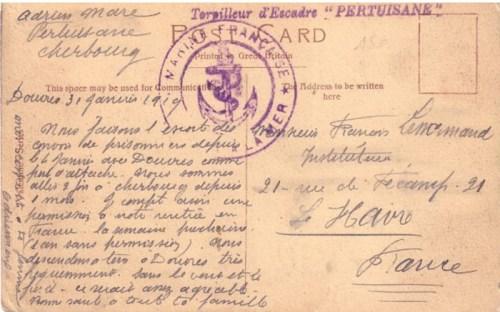 31 janvier 1919 torpilleur d escadre pertuisane