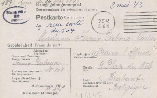15 09 1943 stalag VIIIA