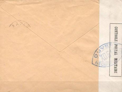 controle postal militaire XD 513