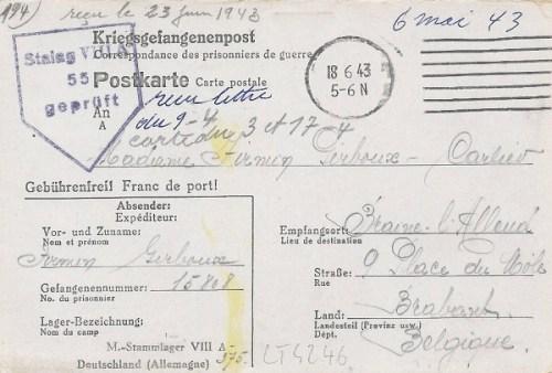 18 06 1943 stalag VIIIA