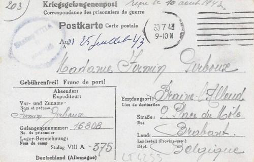 30 07 1943 stalag VIIIA