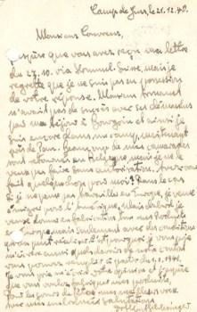 camp de Gurs ilot J 21 12 1940