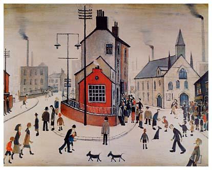A Street Scene in Clitheroe, L.S. Lowry.