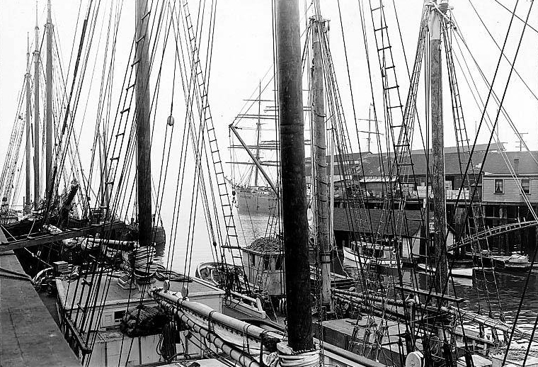 Prison ship SUCCESS, Seattle, 1915. Photographer Unknown. Image: University of Washington Digital Archives