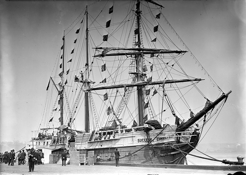 Success convict ship, no date recorded. Image: Library of Congress