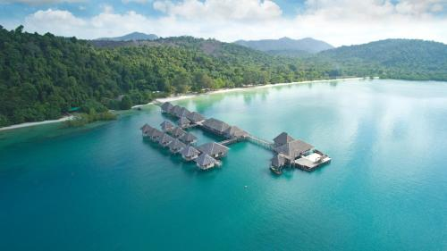 Telunas Resort Aerial view