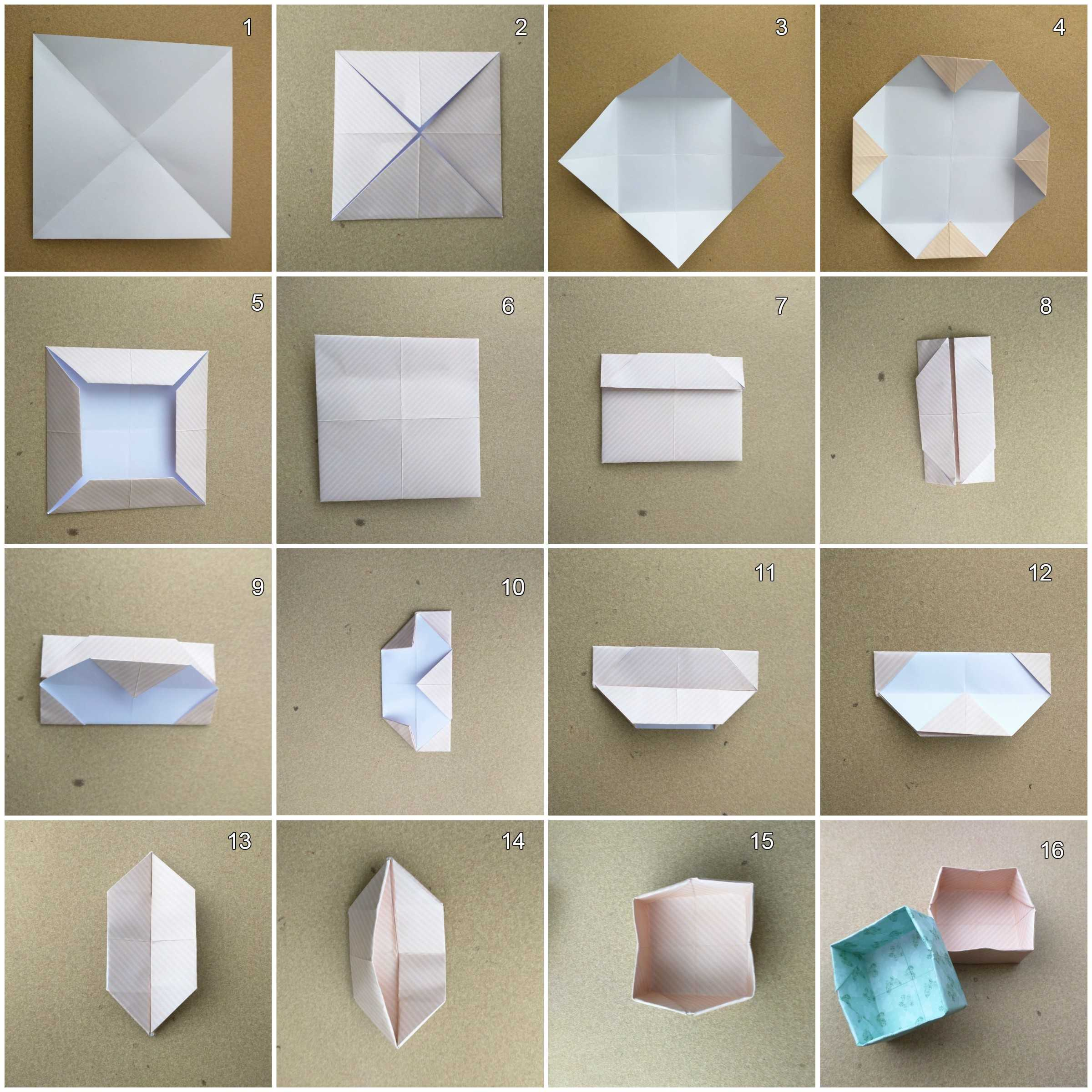 How to make origami box - photo#47