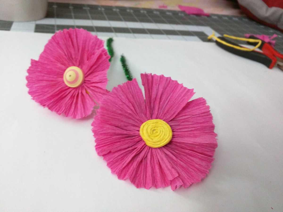 Crepe Paper Wild Flower