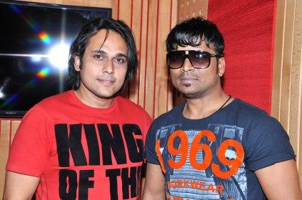 Pritish Chakraborty and Shahid Mallya at Mangal Ho Movie Song Recording