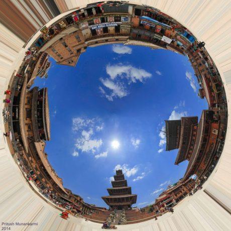 bhaktapur nyatapol square 360 panorama