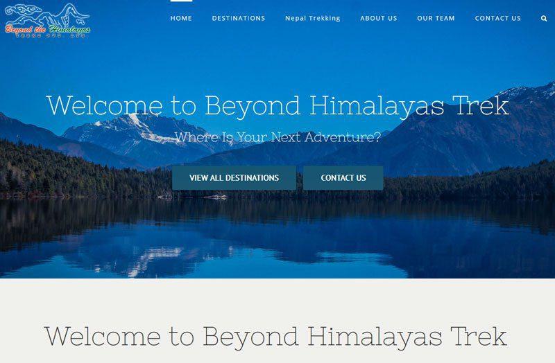 Trekking Beyond Himalayas – Web design
