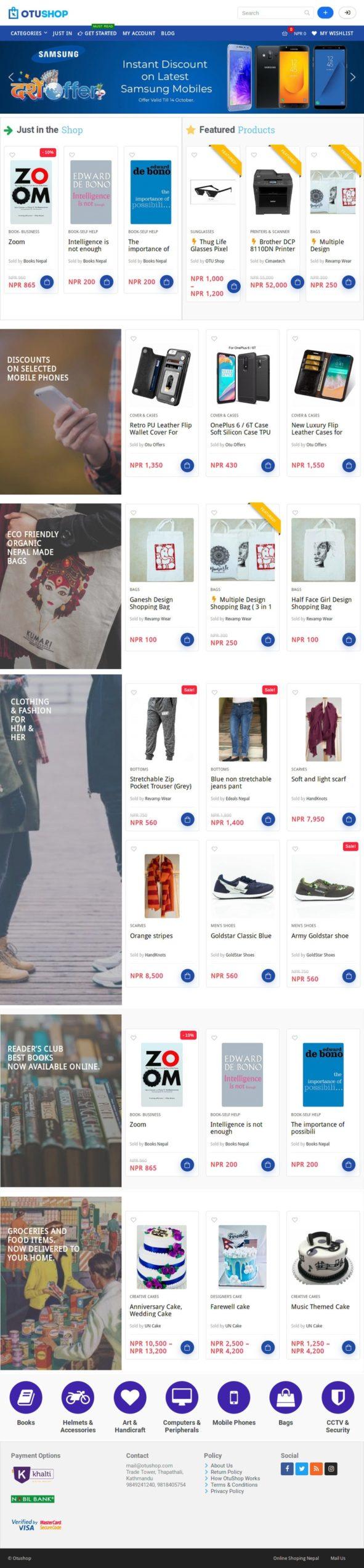 OtuShop.com - eCommerce website 1