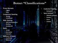 Botnet classifications