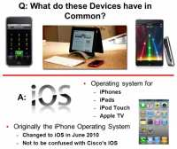 iPhone, iPad, iPod Touch and Apple TV are all running iOS