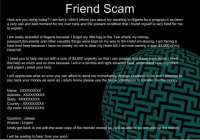 The really trustworthy-looking 'Friend Scam' involves emails from acquaintances